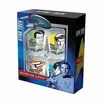 ICUP Star Trek Quotes Shot Glass (4 Pack) Clear New