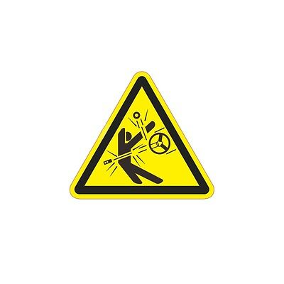 3pc Industrial Safety Decal Sticker Be CAREFUL -SPATTER warning label 3 Size