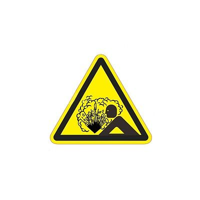 Industrial Safety Decal Sticker Caution Aerosol Heat Warning Stick Label Warning
