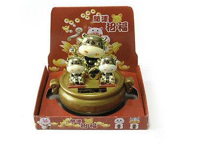 Gold Cow Luck Toy Charm Nohohon Solar ECO Sunlight Buddy Figure Limited