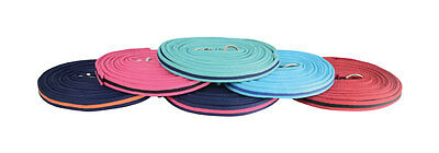 Hy Soft Padded Webbing Horse/Pony Lunge Rein Line - Approx 8 Metres - 16 Colours