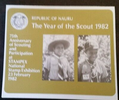 1982 NAURU YEAR of the SCOUTS 1907-1982 M/S MUH IMPERATED COLLECTORS FOLDER