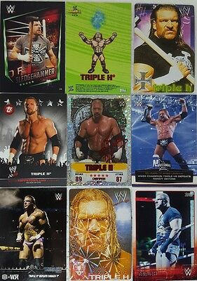 WWE TRIPLE H trading Card / Sticker LOT US + UK no doubles