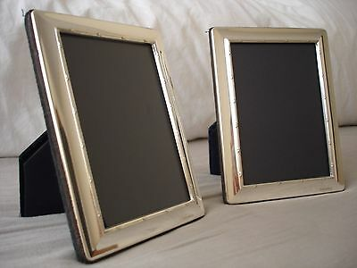 Pair Of Solid Silver Photo Frame, Sterling 925, Edwardian Style, Sheffield 2004