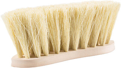 Horze Wood Back Firm Brush Withnatural Bristles - 8Cm - Horse Grooming Brushes