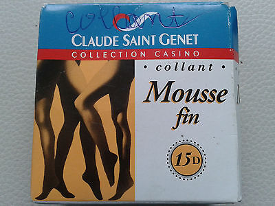 Collant pantyhose vintage taille 2 beige 15 deniers neuf