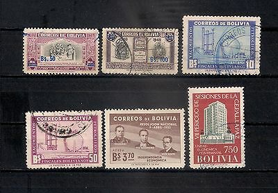 Bolivia Lot Stamps   - 6/22
