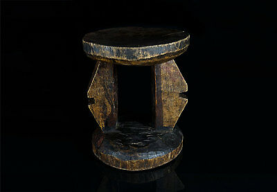 Antique African Stool - Tribally Used -  Zambia - Lusaka Province