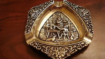 1947 Dutch .833 Silver Ashtray Fully Hallmarked - 100% Authenticity Rare Design