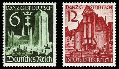 EBS Germany 1939 Danzig absorbed into Reich Michel 714-715 MNH**