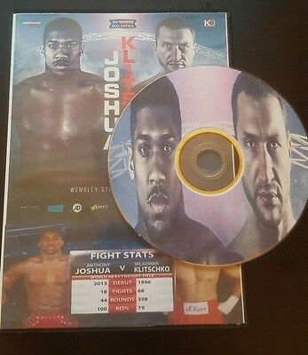 Anthony Joshua Vs Wladimir Klitschko Boxing DVD full fight