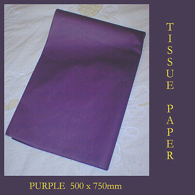 20 Purple Tissue Paper Gift Wrap Craft Party Packing 500x750mm Acid Free