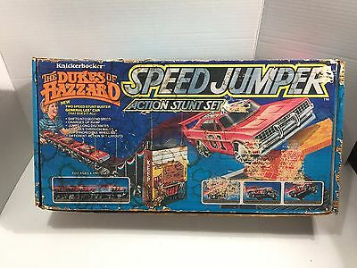 The Dukes of Hazzard Speed Jumper Action Stunt Set Toy USED Complete 1982