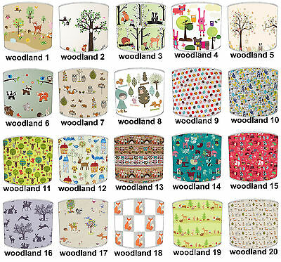 Lampshades Ideal To Match Woodland Animals Cushions & Woodland Animals Wallpaper
