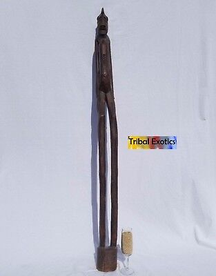 PREMIUM Tribal African Art Senufo Rhythm Pounder Figure Sculpture Statue Mask
