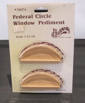 Dolls House 1:12th Scale Houseworks Federal Circle Window Pediment