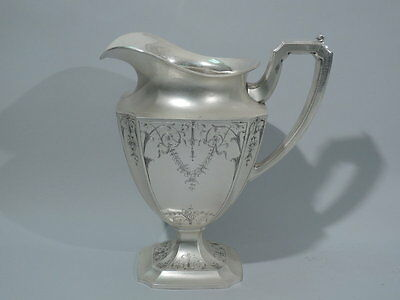 Frank W Smith Water Pitcher -Adams Style - American Sterling Silver