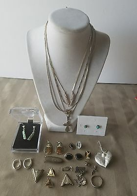 Native American Sterling Silver Jewelry Necklaces,pendants, Earrings, 70+Grams