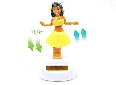 Hawaiian Dashboard Hula Girl Solar Nohohon Motion Dancer Pose Hawaii Collectable
