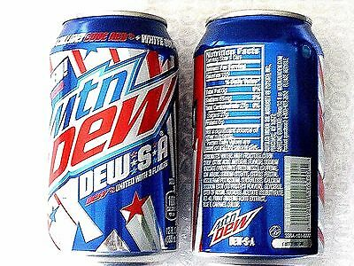 2x 2017 FULL 12 oz American Can MTN MOUNTAIN DEW S A  -- Limited time only!