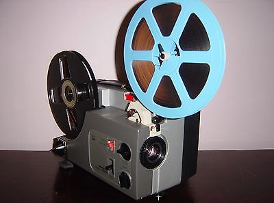 Sankyo Dualux 1000 Standard 8mm / Super 8 MOVIE PROJECTOR ADJUSTABLE SPEED