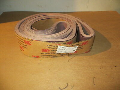 "4"" x 168"" Resin Bond Cloth Belts 180X Grit ( 20 Pcs. ) 3M U.S.A.."