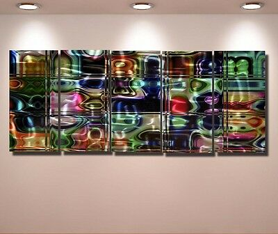 Abstract Painting Original Metal Modern  Wall Art  Large Contemporary