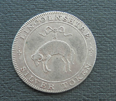 1811 Lincolnshire [Anon] - Silver Shilling Token - 'County' Issue - D1  - FINE