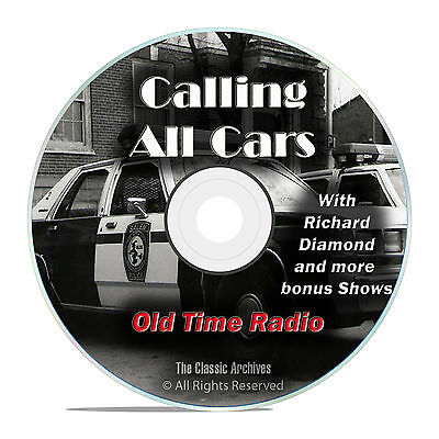Calling All Cars, 615 Episodes Old Time Radio Crime Detective OTR DVD MP3 F91