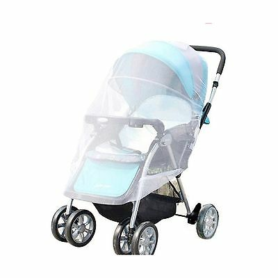 SUNREEK White Infants Baby Stroller Pushchair Mosquito Insect Net Safe Me... New