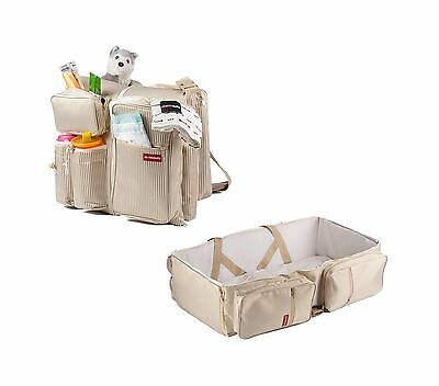 Chubbi Baby 3 in 1 Designer Diaper Bag - Travel Bassinet Change Station P... New