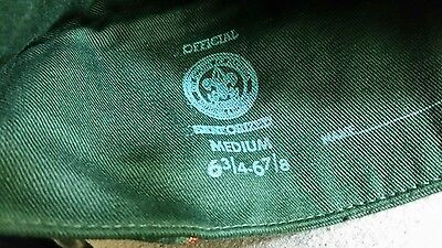 Boy Scout Garrison Style Hat -medium - late 1960's - early 1970's