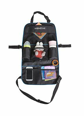 MONSTAR 2in1 Back seat Stroller Organizer-Auto Car Seat Back Protector an... New