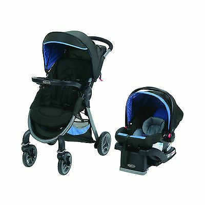 Graco FastAction 2.0 Click Connect Travel System with SnugRide Click Conn... New