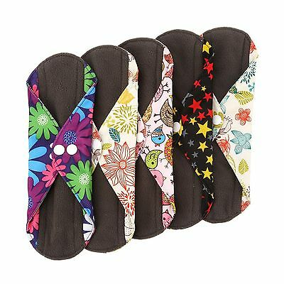 Wegreeco Bamboo Reusable Sanitary Pads - Cloth Sanitary Pads - Pack of 5 ... New