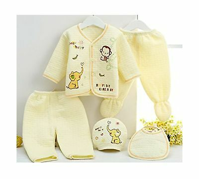R&M Hight quality warm wear for new born 5pieces set New