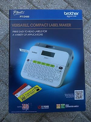 Brother PT-D400 Label Maker Compact Factory Sealed FREE SHIP 012502638803 NEW