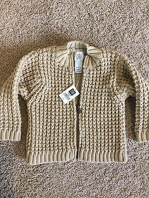Gap Infant Cardigan Sweater Tan 12-18 Months. New With Tags.