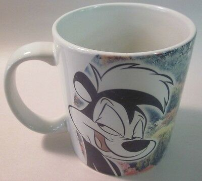 Vintage Ceramic Pepe Le Pew Cartoon Character Coffee Mug - Looney Tunes