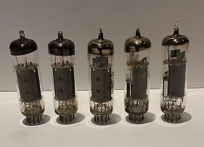 6Gv8/ Ecl85 Vacuum Tube Valves (5) Untested  Free Shipping. Aussie Seller.