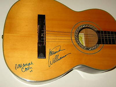 ROSANNE CASH and LUCINDA WILLIAMS signed acoustic GUITAR