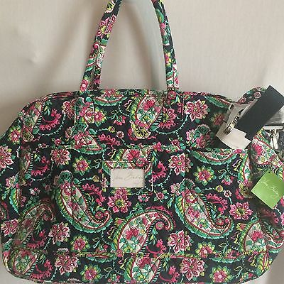 New Vera Bradley Grand Traveler Bag in Petal Paisley Large Tote Multi-Color $120