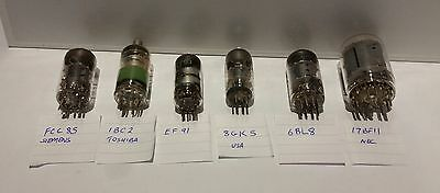 ELECTRON VACUUM TUBE VALVES Various (6) UNTESTED  FREE SHIPPING.