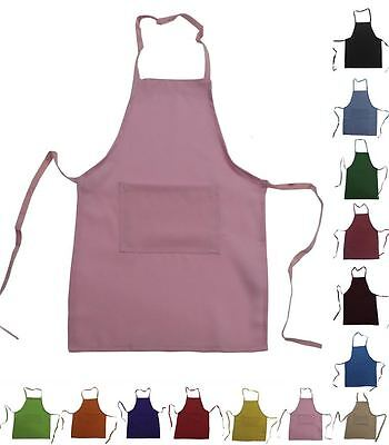 Set of 20 KIDS CHILDREN CHEF APRON  REAL FABRIC MEDIUM fits 8-12 HIGH QUALITY