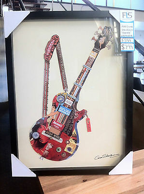 Les Paul Guitar Collage - Framed Wall Art