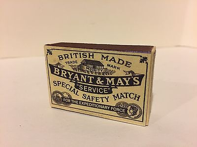 "WW1 - Bryant & May's - ""Service"" Special Safety Matches - Matchbox Reproduction"