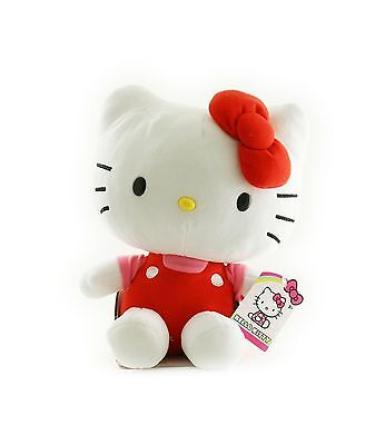 Hello Kitty - 11-Inch Tall Plush Toy (Pink Shirt Red Outfit) New