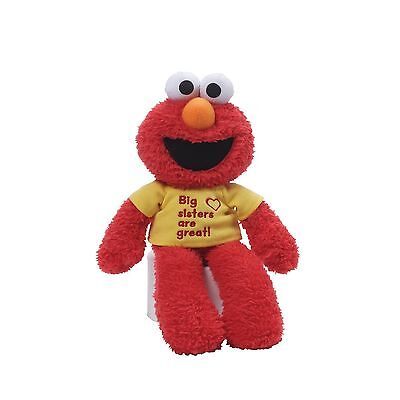 "Gund 4052326.0 Elmo 12"" Big Sister T-Shirt Elmo Big Sister T-Shirt New"