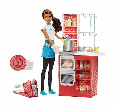 Barbie Spaghetti Chef Doll and Playset - Brunette New
