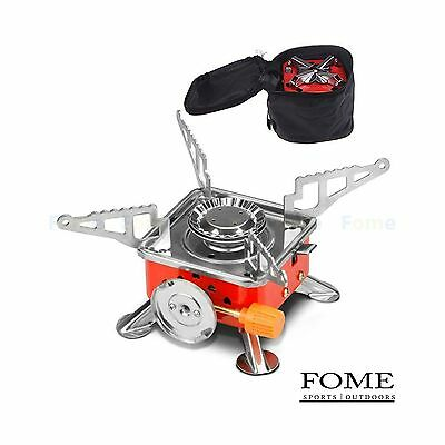 Camping Gas Stove FOME SPORTS|OUTDOORS Stainless Steel Portable Collapsib... New